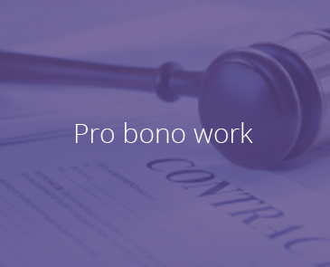 Corporate Social Responsibility - Pro-Bono Work